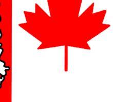 Canada flag Mississippi outline Sticker