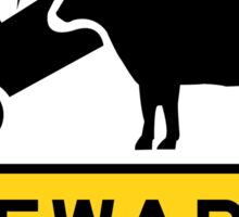 Beware of Cows, Road Sign, Australia Sticker