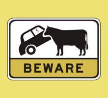 Beware of Cows, Road Sign, Australia Baby Tee