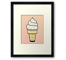 Ice Cream With Sprinkles Framed Print