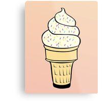 Ice Cream With Sprinkles Metal Print