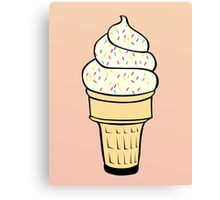 Ice Cream With Sprinkles Canvas Print