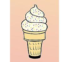 Ice Cream With Sprinkles Photographic Print