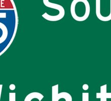 Wichita, Highway Sign, Kansas Sticker
