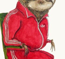 Hipster Sloth, sloth watercolor, sloth painting, cute sloth illustration Sticker