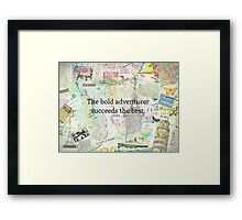 Adventure travel quote Framed Print