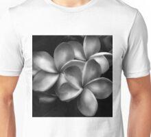 B/W Plumeria Flowers Unisex T-Shirt