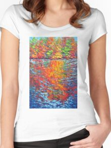 Amber Reflection, Ottawa River Women's Fitted Scoop T-Shirt