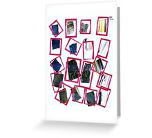 Red Frames Greeting Card