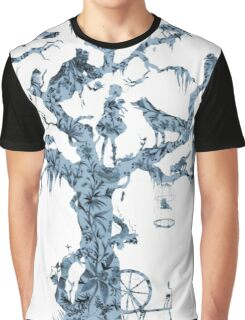 Floral Fairy Tale Tree Graphic T-Shirt