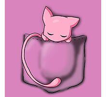 Mew Sleeping in Pocket Photographic Print