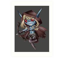 Tiny Queen of the Undead Art Print
