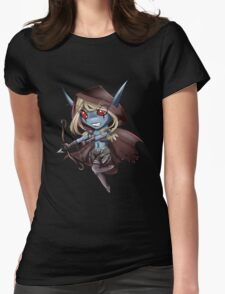 Tiny Queen of the Undead Womens Fitted T-Shirt