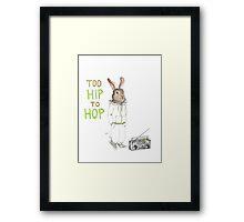 Too Hip to Hop - Hipster bunny, hip hop bunny, rabbit art, bunny watercolor, rap art Framed Print