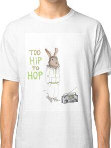 Too Hip to Hop - Hipster bunny, hip hop bunny, rabbit art, bunny watercolor, rap art Classic T-Shirt