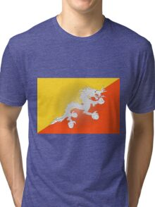 Flag of Bhutan Tri-blend T-Shirt