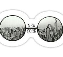 New York Glasses Sticker Sticker