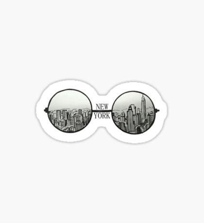 New York Glasses Sticker Sticker