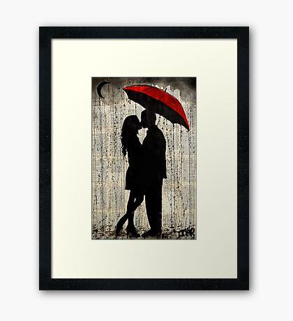 rainy day love Framed Print