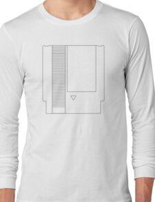 NES Cartridge - Black Ink Long Sleeve T-Shirt