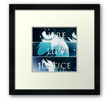 Death Note K - TRUTH.LIES.JUSTICE Framed Print