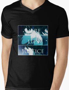 Death Note K - TRUTH.LIES.JUSTICE Mens V-Neck T-Shirt