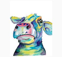 """Once in a Blue Moo"" - blue cow watercolor Unisex T-Shirt"