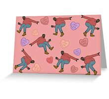Drake Valentine (pink background) Greeting Card