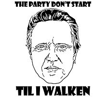 Funny Walken - love black white perfect quote cute fun awesome cool parody Photographic Print