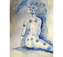 Dressed in Blue Photographic Print