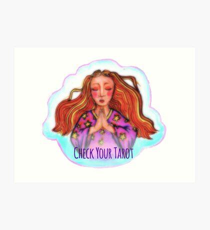 Check Your Tarot Art Print