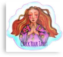Check Your Tarot Metal Print