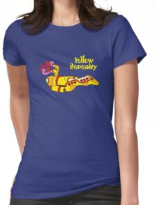 Yellow Serenity Womens Fitted T-Shirt