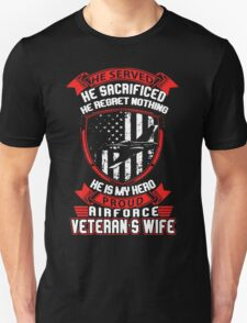 Proud Airforce Veteran Wife T-Shirt