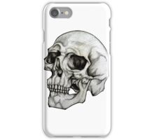 Realistic Skull Sketch Design iPhone Case/Skin