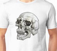 Realistic Skull Sketch Design Unisex T-Shirt