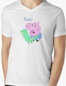 George Pig Yuck! from Peppa Pig Lunch Mens V-Neck T-Shirt