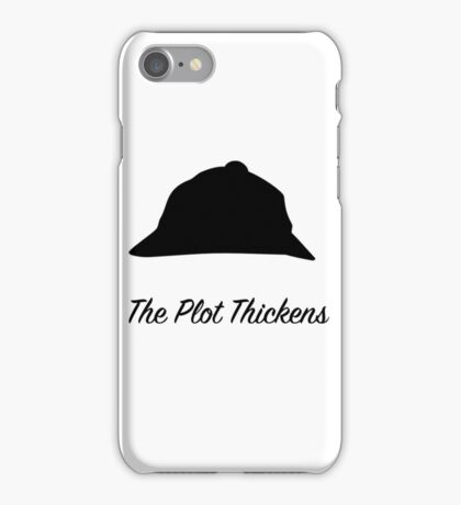 "Sherlock Holmes ""The Plot Thickens"" iPhone Case/Skin"