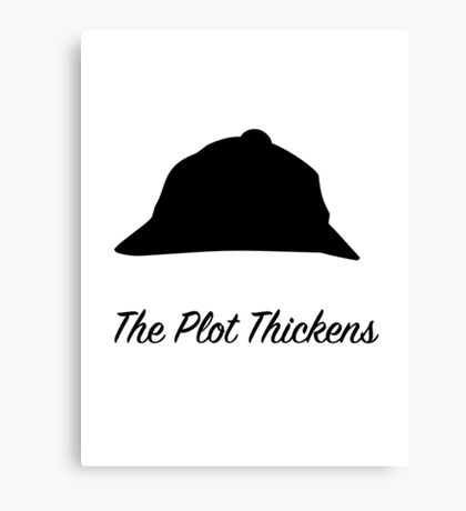 "Sherlock Holmes ""The Plot Thickens"" Canvas Print"