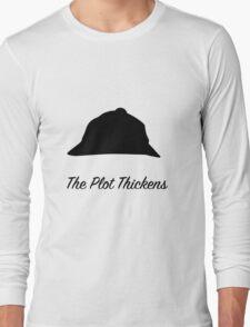 "Sherlock Holmes ""The Plot Thickens"" Long Sleeve T-Shirt"