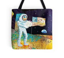 Walk on the Moon Tote Bag