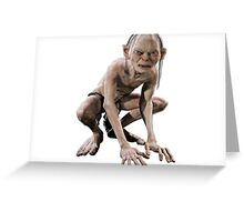 Smeagol from lotr Greeting Card