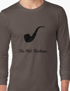 "Sherlock Holmes ""The Plot Thickens"" (2) Long Sleeve T-Shirt"