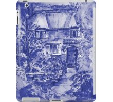 Thatched Cottage - Cyanotype of Original Painting  iPad Case/Skin