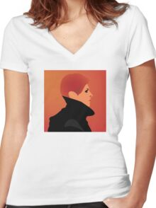 Jerome Newton — David Bowie, Low, Man Who Fell to Earth Women's Fitted V-Neck T-Shirt