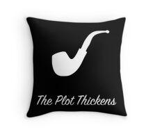 "Sherlock Holmes ""The Plot Thickens"" (2) (White) Throw Pillow"