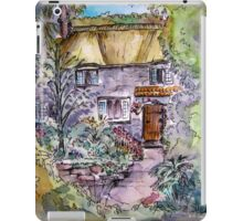 Thatched Cottage Watercolour and Ink Painting iPad Case/Skin
