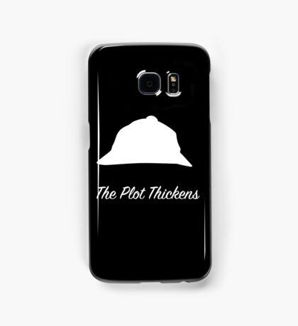 "Sherlock Holmes ""The Plot Thickens"" (White) Samsung Galaxy Case/Skin"