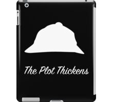 "Sherlock Holmes ""The Plot Thickens"" (White) iPad Case/Skin"