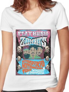 flatbush zombies 2 Women's Fitted V-Neck T-Shirt